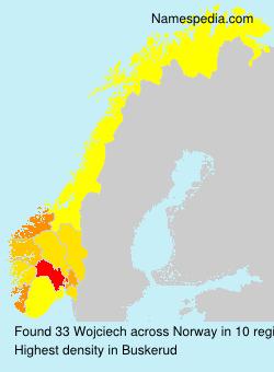 Surname Wojciech in Norway