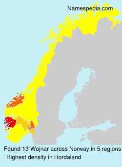 Surname Wojnar in Norway