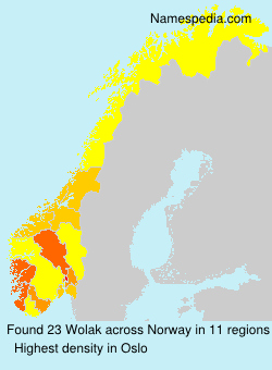 Surname Wolak in Norway