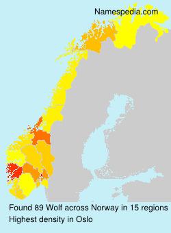 Familiennamen Wolf - Norway