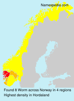 Surname Worm in Norway