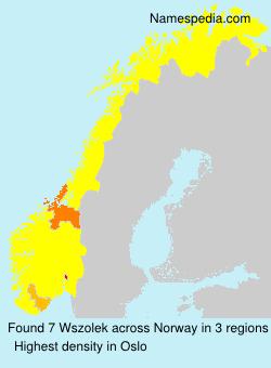 Familiennamen Wszolek - Norway