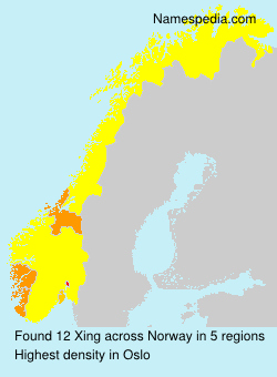 Surname Xing in Norway