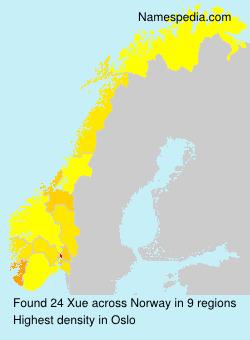 Familiennamen Xue - Norway