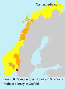 Surname Yakub in Norway