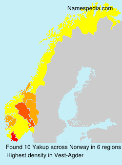 Familiennamen Yakup - Norway