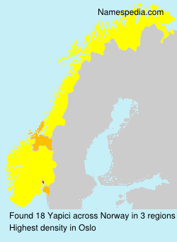 Surname Yapici in Norway