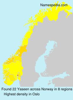 Familiennamen Yaseen - Norway