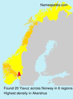 Surname Yavuz in Norway