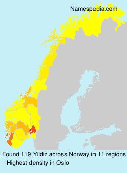 Surname Yildiz in Norway