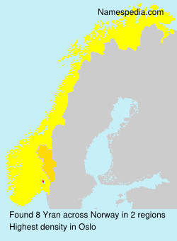 Surname Yran in Norway