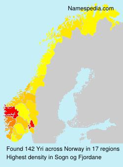 Surname Yri in Norway