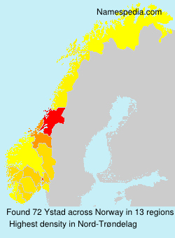 Surname Ystad in Norway
