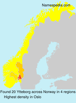 Surname Ytteborg in Norway