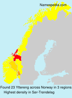 Surname Yttereng in Norway