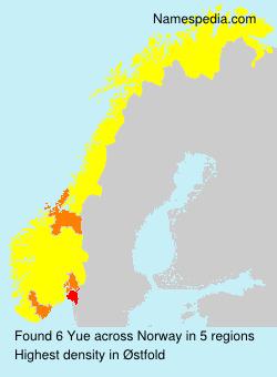 Surname Yue in Norway
