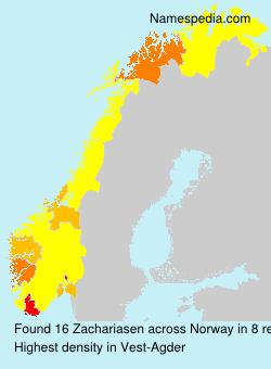 Surname Zachariasen in Norway