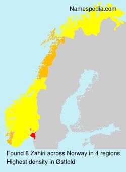 Familiennamen Zahiri - Norway