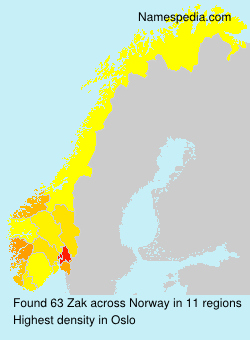 Surname Zak in Norway