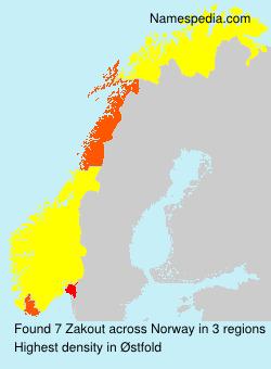 Familiennamen Zakout - Norway