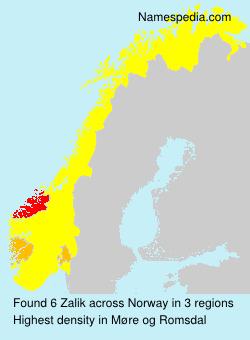 Familiennamen Zalik - Norway