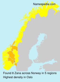 Surname Zana in Norway