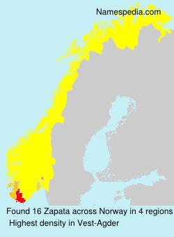 Familiennamen Zapata - Norway