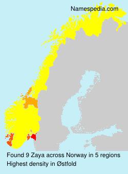 Familiennamen Zaya - Norway