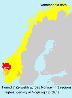 Familiennamen Zerwekh - Norway