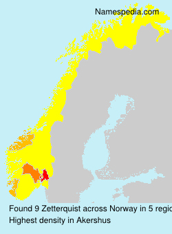 Surname Zetterquist in Norway