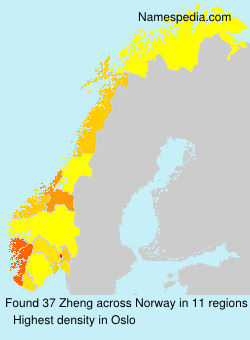 Surname Zheng in Norway