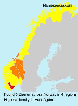 Surname Ziemer in Norway