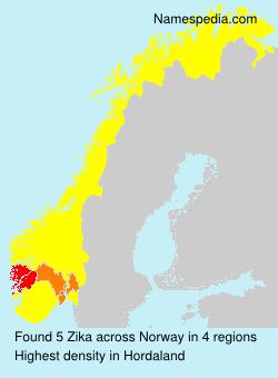 Familiennamen Zika - Norway