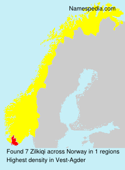 Surname Zilkiqi in Norway