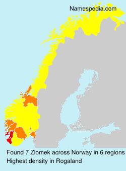 Surname Ziomek in Norway