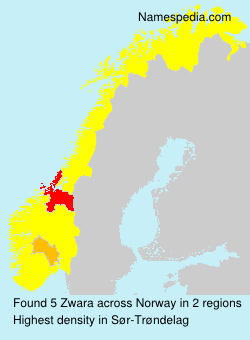 Surname Zwara in Norway