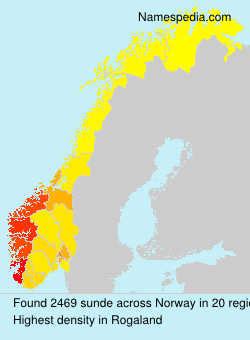 Surname sunde in Norway