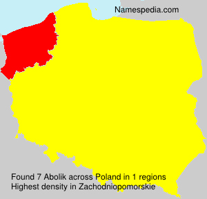 Familiennamen Abolik - Poland