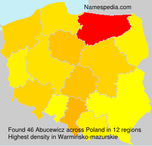 Surname Abucewicz in Poland