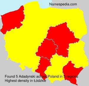 Surname Adadynski in Poland