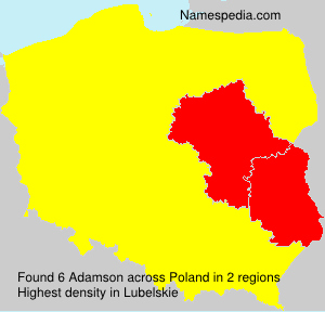Surname Adamson in Poland