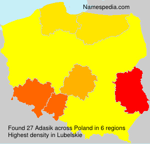 Surname Adasik in Poland