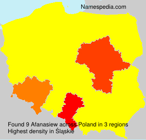 Surname Afanasiew in Poland