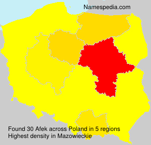 Surname Afek in Poland