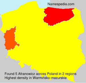 Surname Afranowicz in Poland