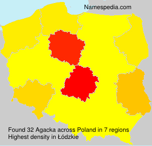 Surname Agacka in Poland