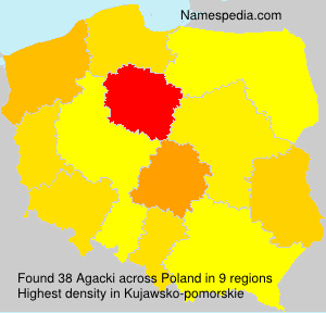 Surname Agacki in Poland
