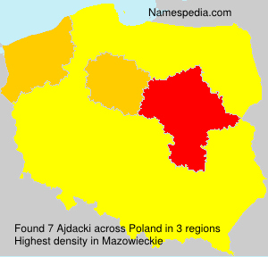 Surname Ajdacki in Poland