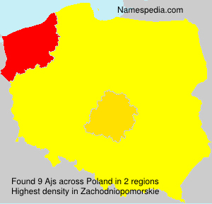 Surname Ajs in Poland