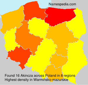 Surname Akincza in Poland